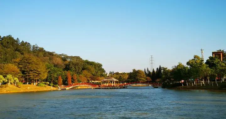 番禺这个公园,既有湖光山色,也有花海园林