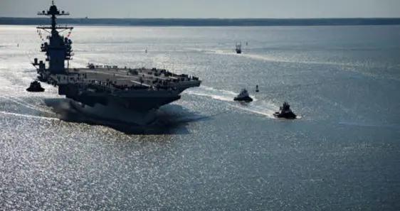 132亿美元烂尾工程,美海军再次承认:福特号航母起降舰载机很危险