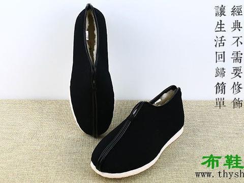 老北京布鞋男鞋棉鞋加绒内联升手工千层底纯羊毛安棉内里保暖靴子