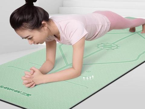 初学者家用瑜伽垫,双层加厚防滑抗撕裂,耐脏易清洗