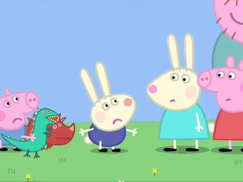 小猪佩奇:佩奇抢走瑞贝卡玩具,给人家气哭了,佩奇做的不对