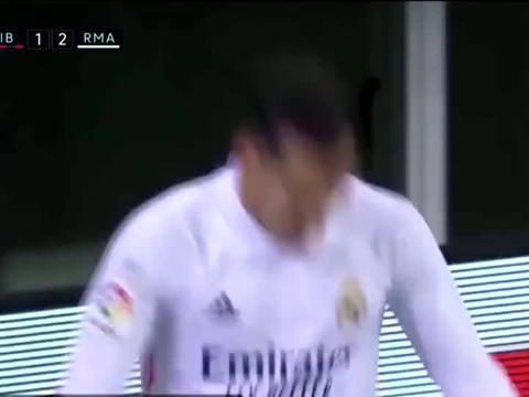 埃瓦尔1-3皇家马德里 本泽马连场破门 皇马四连胜 继续领跑西甲