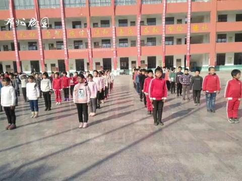 邓州市构林镇博学实验学校举办韵律操比赛