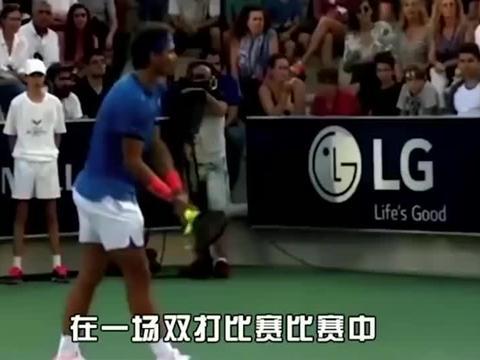 网球之家:纳达尔停止了比赛帮母亲找孩子,温暖!
