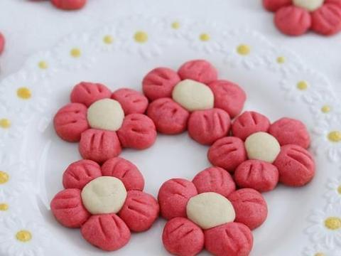 网红美食花朵饼干,造型可爱,味道香甜,厨房小白也能做