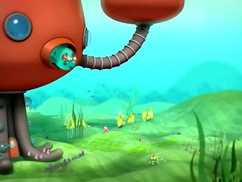 海底小纵队:呱唧要赶走海怪,可到处都没找到,快回头看看