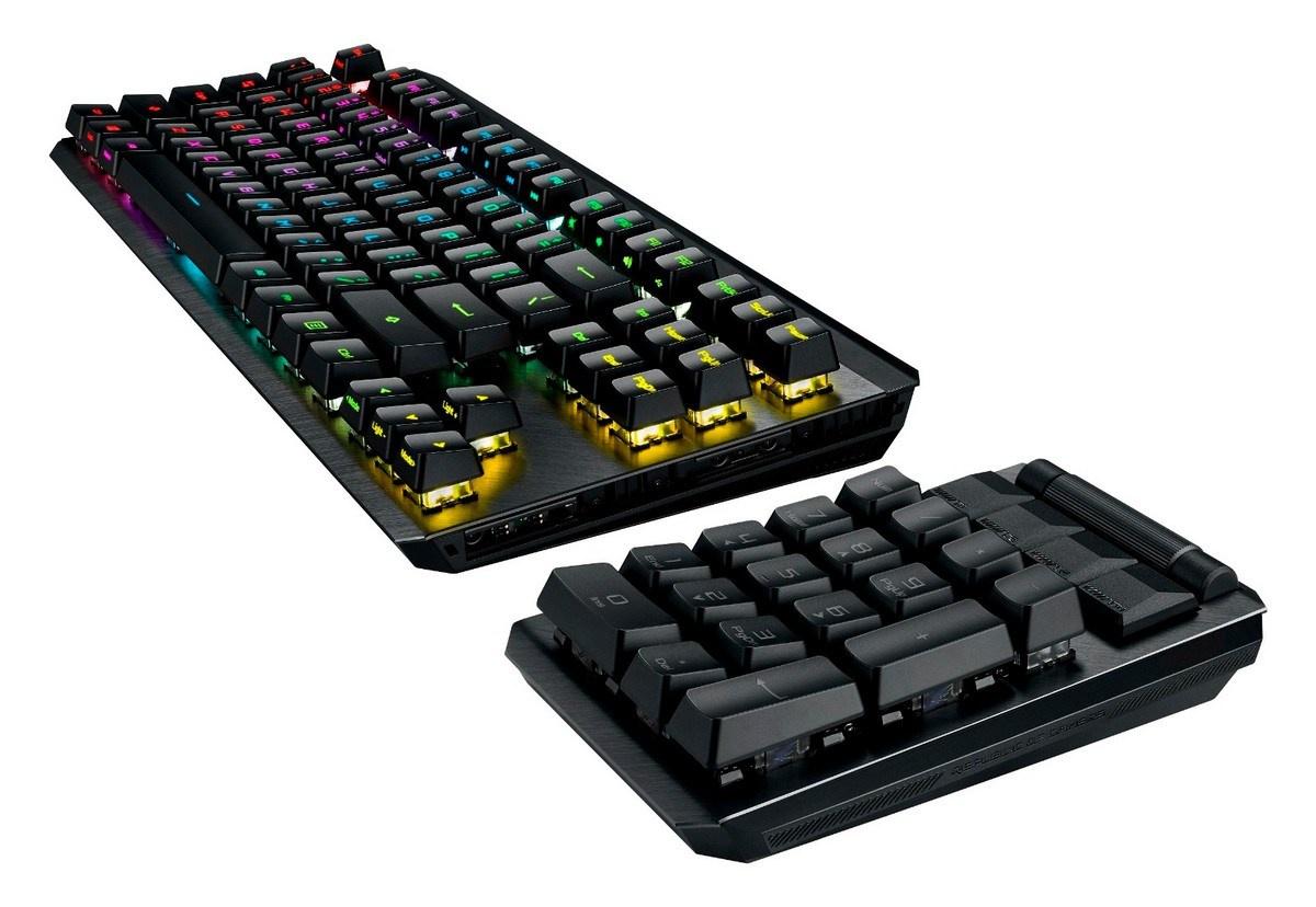 华硕发布ROG Claymore II 可拆卸机械键盘