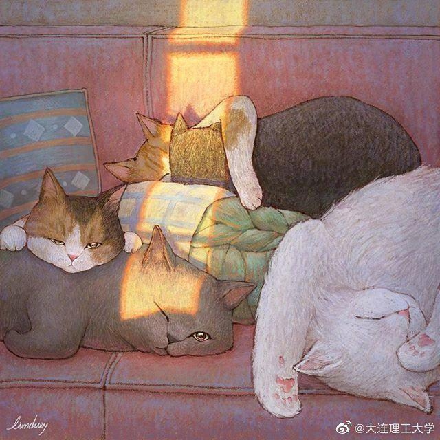 毛孩子的休闲生活 插画师Limduey (@插画 )