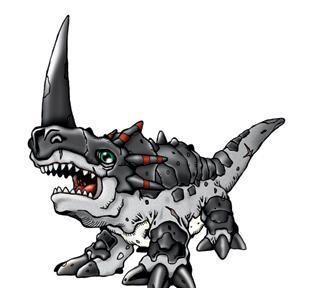 数码宝贝:拥有大角的数码兽,万年龙套小兵,再进化就是换个色