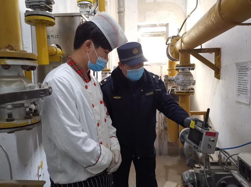 北京丰台长辛店镇综合行政执法队开展燃气安全检查