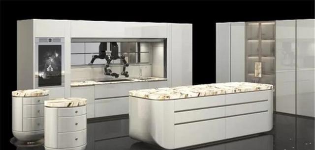英国人造的厨房,灶台烤箱水槽一个不落,甚至有机器人为你做饭?