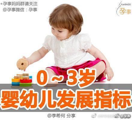 0~3岁婴幼儿发展指标