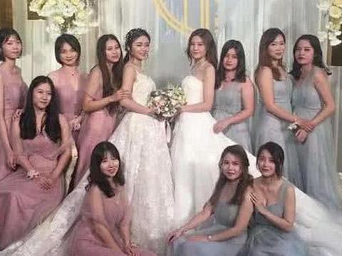 双胞胎兄弟的婚礼走红,伴娘比新娘还要抢眼,网友:尴尬了