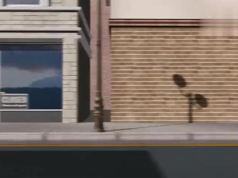 倒霉熊:倒霉熊开电瓶车被摩托车欺负,想要报仇,差点被货车撞死