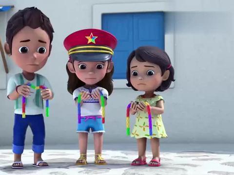 超级飞侠:乐迪和小女孩看日落,结果玩具火车抛锚,乐迪求助总部