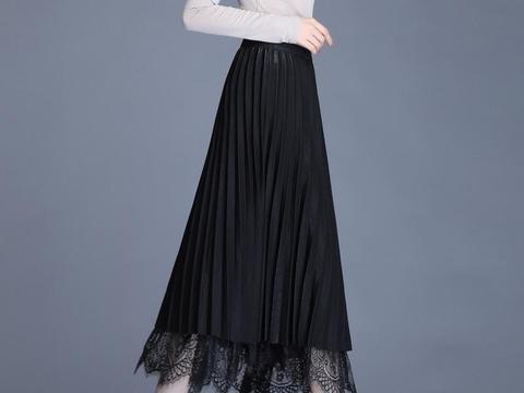 时尚网纱百褶裙,束腰收腹, 搭配起来也很简单