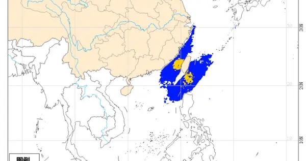 海上大风黄色预警 台湾海峡巴士海峡等海域有大风