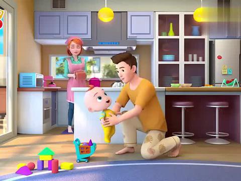 幼儿益智动漫:小宝宝在很幸福,早餐营养又好吃,爸妈都宠爱他呢