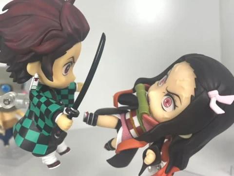 鬼灭之刃玩具动画:为了保护这个新朋友,祢豆子打伤了炭治郎