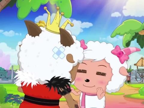 喜羊羊:小羊的核桃太硬,只有红太狼平底锅能砸开,为砸核桃拼了