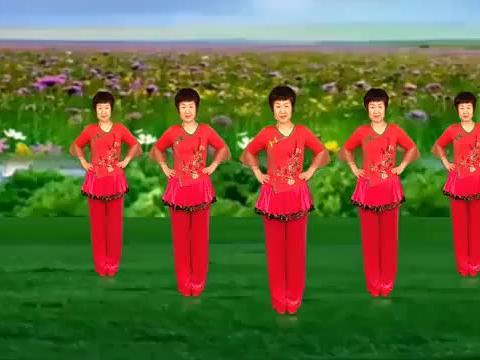 简单版广场舞《红尘情歌》经典情歌百听不厌,男女对唱入耳又入心
