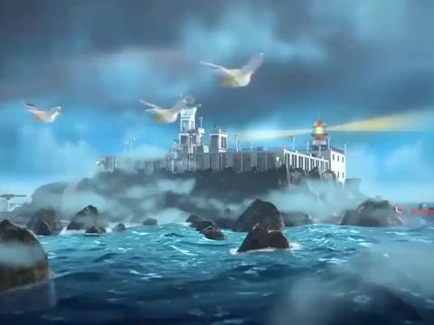 乐高城市:坏蛋冲出排水口,刚好掉到船上,警察第一时间发现他们