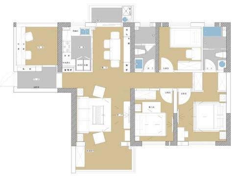 高级不一定就最好,116㎡简约风格四居室装修,设计简洁却很舒服