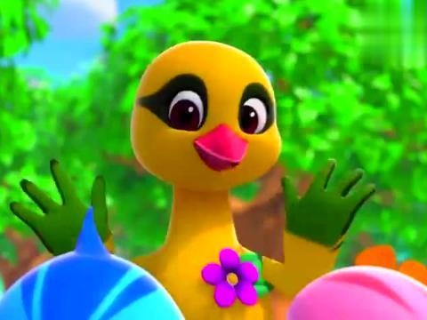 黄鹂老师在,她准备了礼物,送给小朋友的妈妈,小动物一起努力!