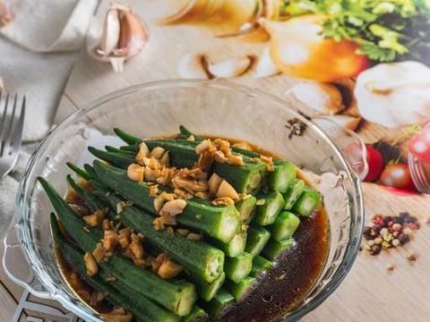 蒜蓉蚝油秋葵,营养丰富鲜香入味,新手零失误的家常菜,特别好吃