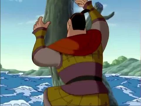 哪吒传奇:纣王乘船游行,妲己一见钟情,这是我见过最威风的男子