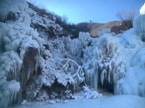 隐藏在门头沟区的一处冰雪美景