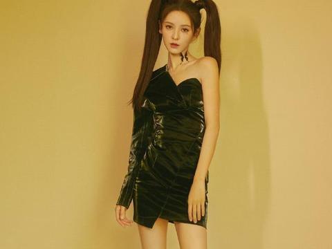王思聪最美前女友,张予曦包臀短裙秀骨感身材,扎双马尾像漫画女
