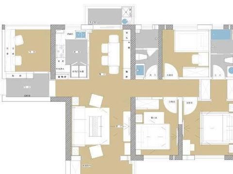 高级不一定就好,116㎡简约风格四居室装修,设计简洁却很舒服