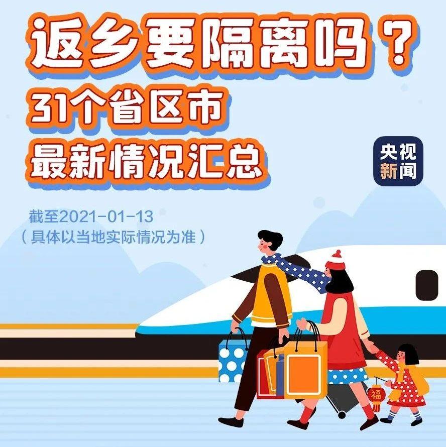 春节返乡需要居家观察或隔离吗?一张图看懂!