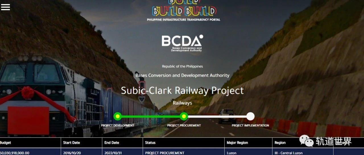 菲律宾与中国企业签署大型铁路项目合同 9.4亿美元