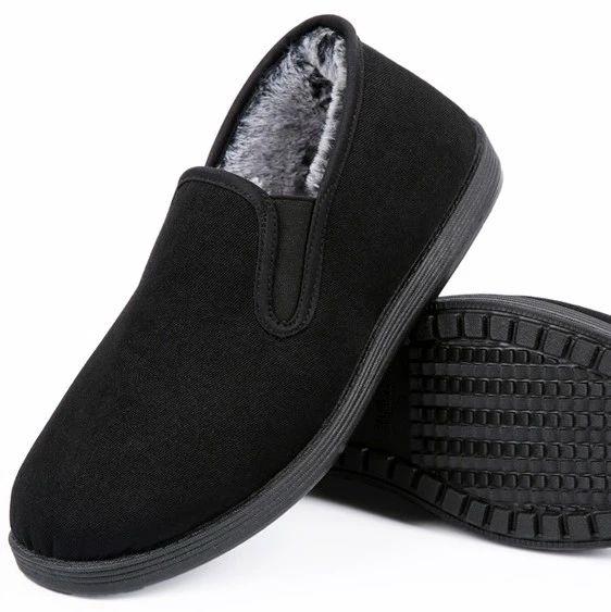 """全黑色""""警察加绒布鞋"""",保暖防滑、办公可穿、价格感人!"""
