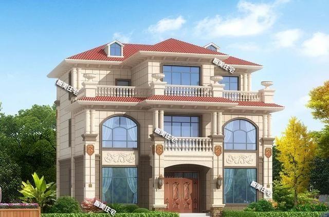 宽12-13米之间,建在广东和湖南的两栋别墅,户型二真简约