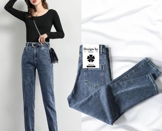 裤袜早就过时了,现在上海女人穿牛仔哈伦裤,所以她们不想穿换