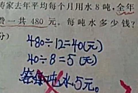 这道题目被打叉,错在哪里,老师说题没审清