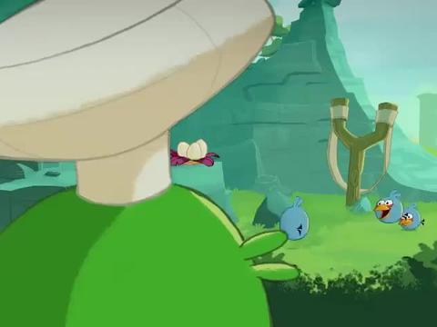 愤怒的小鸟:小鸡的极限运动,看到小猪目瞪口呆,他还会玩吗