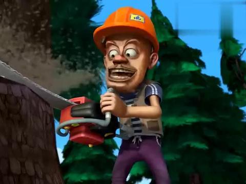 熊出没:光头强又砍树,鸟妈妈报仇,躲家里也得挨打!