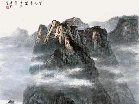 【通世智库】周志龙作品:感悟写生赏析中国山水画之美