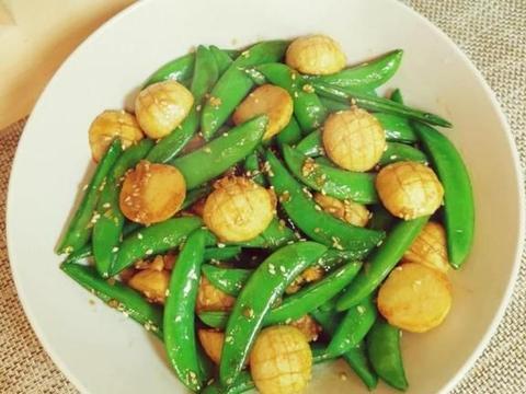 美食家常菜推荐:甜豆炒鱼蛋,糖醋茄子,什锦时蔬粒,营养又美味