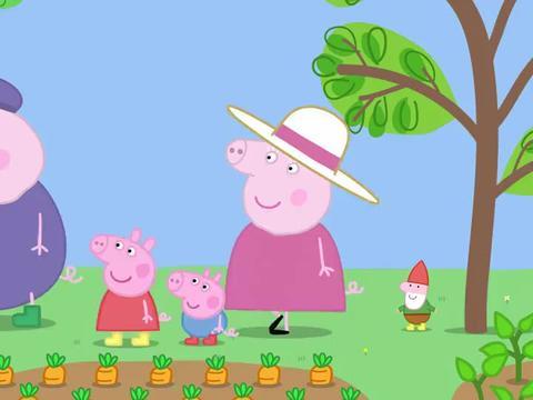 猪奶奶买了新玩偶,佩奇和乔治觉得很可爱