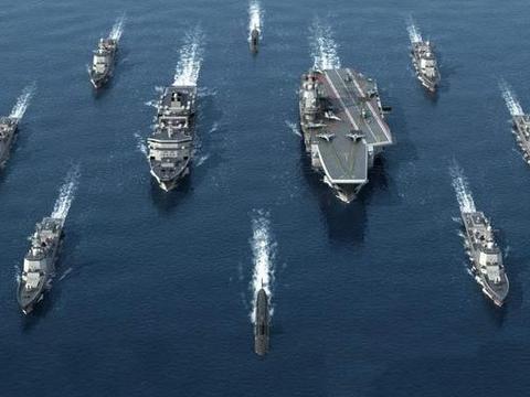 在航母编队里,相比于混编,补给舰还是躲在远处更好点