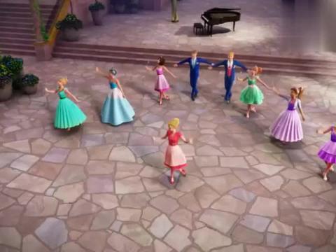芭比之皇室摇滚:大家一起排练,艾瑞卡即兴发挥,奥莉薇亚很不满