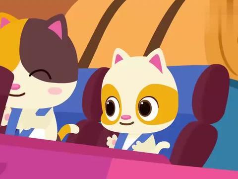 宝宝巴士:小猫咪好开心,还能一起坐车,去野营也太棒了吧