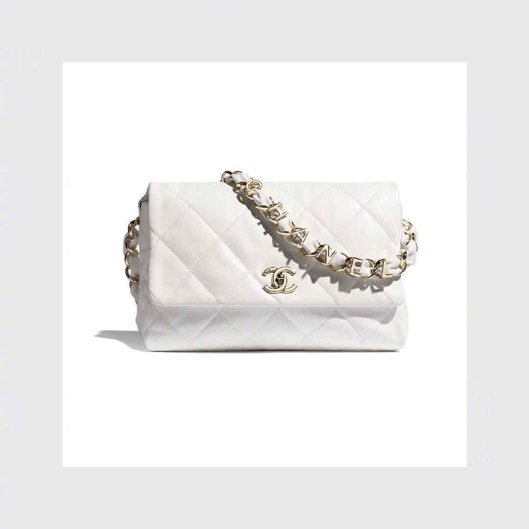 CHANEL 白色 金链 珍珠