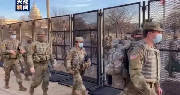美国2.5万国民警卫队士兵未检测病毒便被派往首都