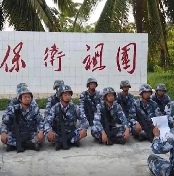 我军南部战区部队在西沙岛礁军演 模拟对敌英语喊话